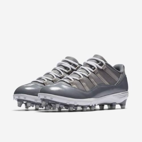 Jordan XI Retro Low TD Mens Football Cleats 11 Medium Grey White Cool Grey   Jordan 712519890