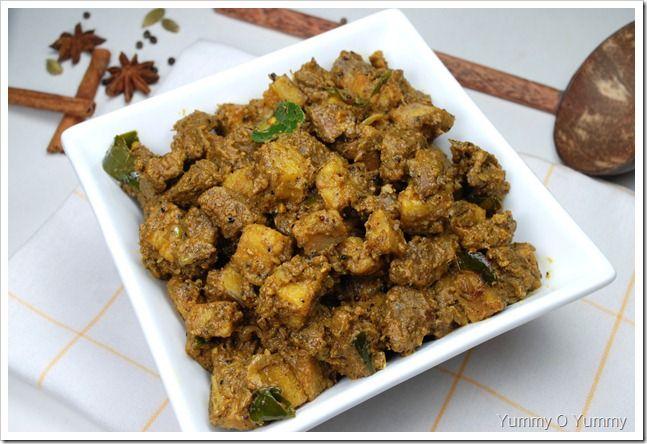 Beef Kaya Raw Banana Ularthiyathu Raw Banana Beef Indian Food Recipes