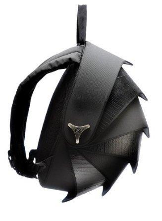Cyclus Pangolin Backpack made of reused tyre inner tubes, Black / Grey inner lining
