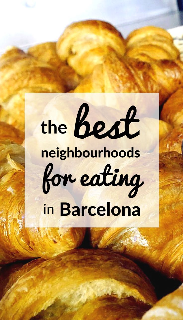 """Looking for the best neighbourhoods in Barcelona to eat in? Try the """"Slow Travel Guide to Barcelona"""", full of travel tips and advice.. Includes info on what to do, and where to eat, and how to rent an apartment in Barcelona:"""