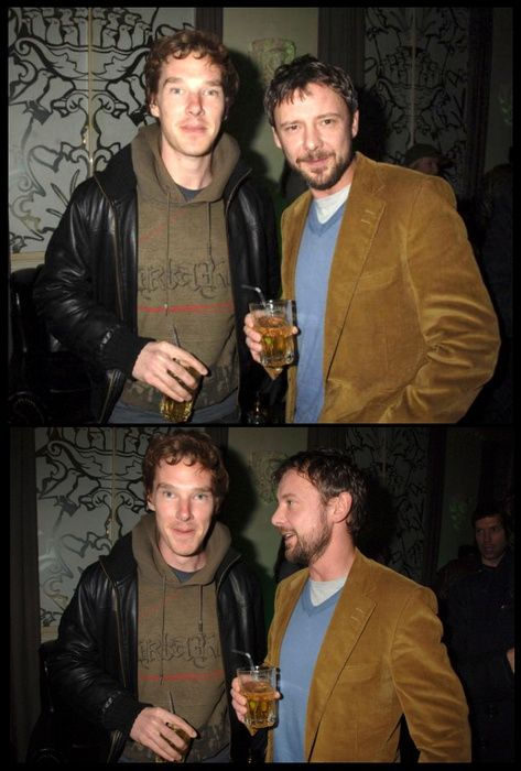 Two of my favourite people in the world: Benedict Cumberbatch and John Simm