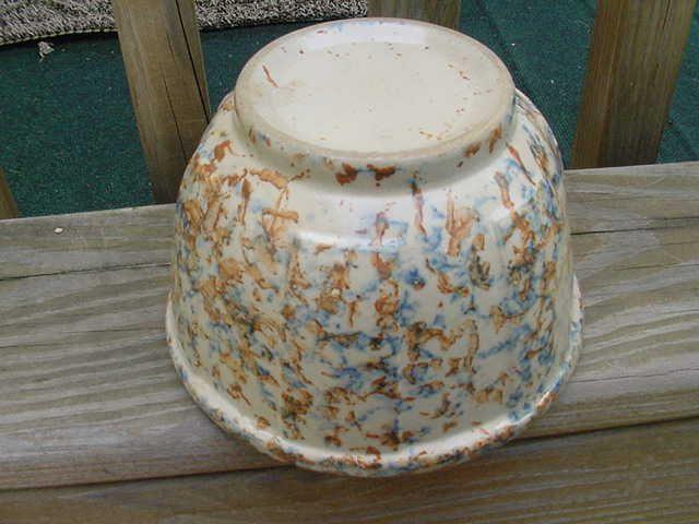 "Vintage Red Wing Stoneware Sponge Ware 6"" Ribbed Kitchen Mixing Bowl #RedWing"