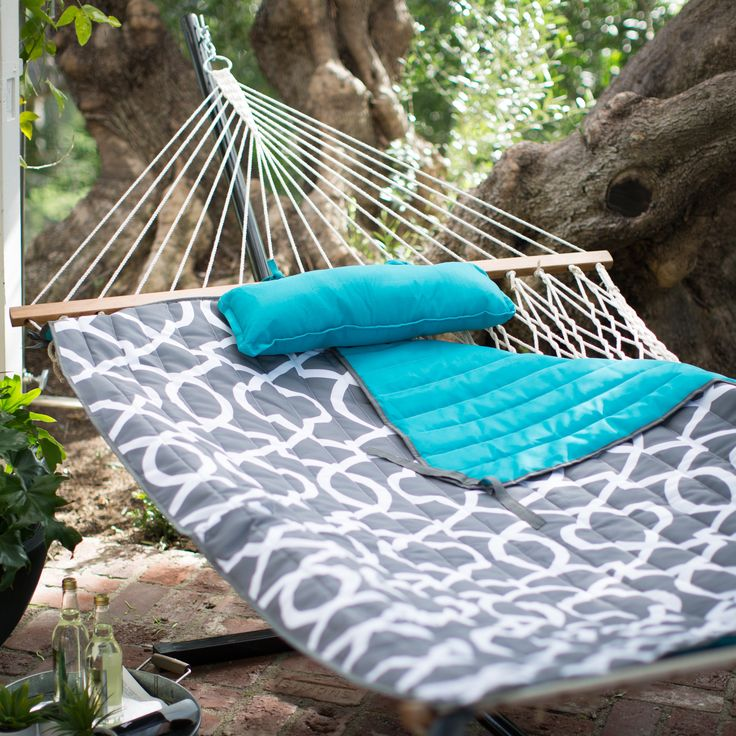 Have to have it. Algoma 11-ft. Cotton Rope Hammock with Metal Stand Deluxe Set - $119.99 @hayneedle