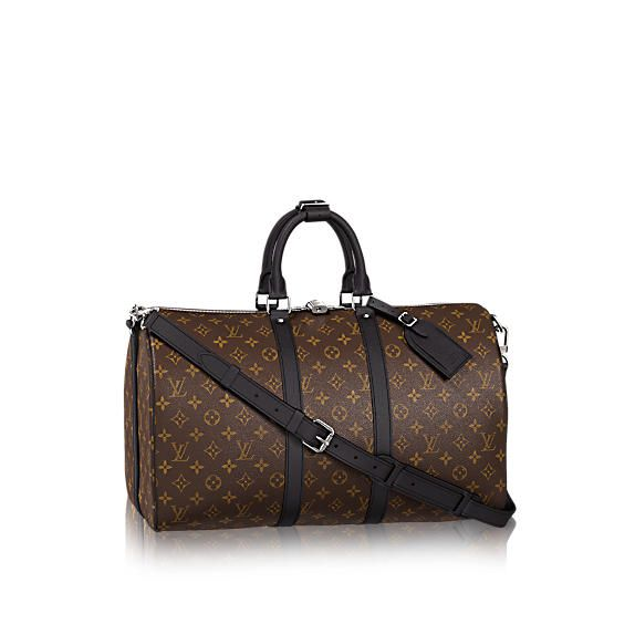 Keepall 45 Bandoulière Monogram Macassar Canvas - Travel | LOUIS VUITTON