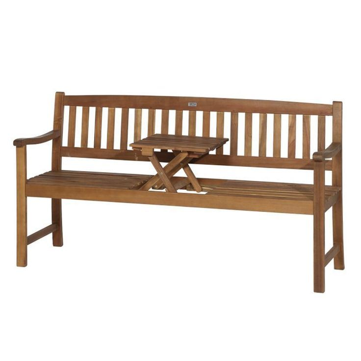 Garden Bench Florida 2 Seater With Integrated Folding Table