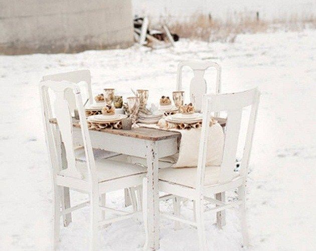 White, white, white...: Christmas Dinners, Rustic Winter, White Sets, Winter White, White Christmas, Inspiration Rustic, Snowiest Winter, White Tablescapes, Christmas Ideas
