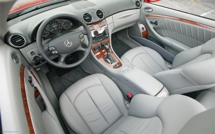 Mercedes CLK 350 interior.  Feels like home.