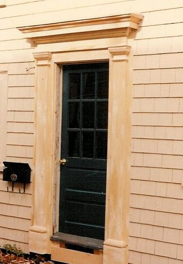 Exterior Door Pediment And Pilasters Greencardal