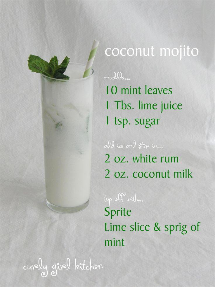 Curly Girl Kitchen: Coconut Mojito
