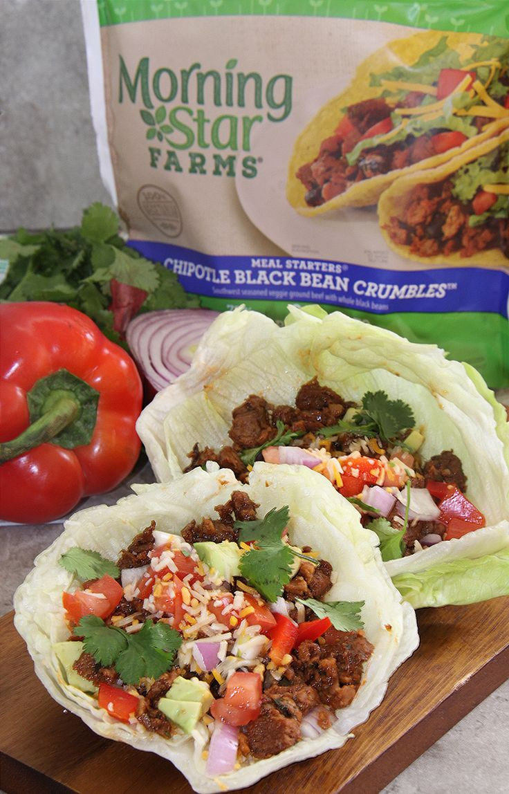 Southwest Chipotle Lettuce Wraps with MorningStar Farms #ad