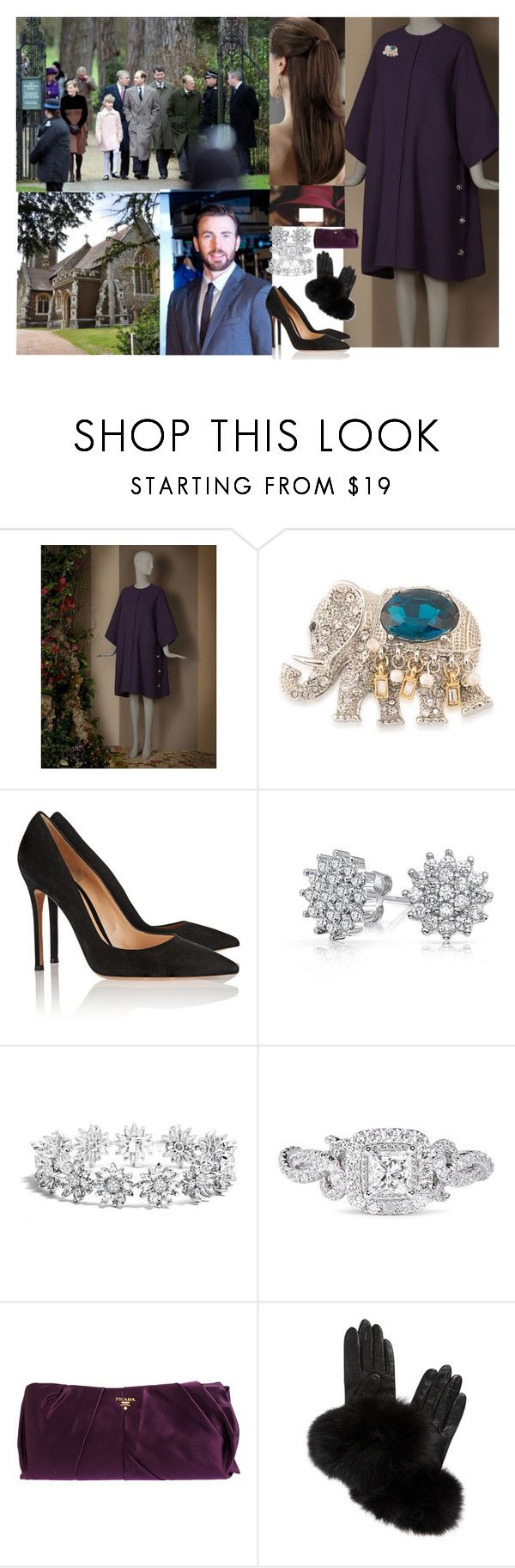 """""""Attending the Christmas Day service at St Mary Magdalene Church 2012"""" by pacqueline-ngoya ❤ liked on Polyvore featuring Dolce&Gabbana, Carolee, Gianvito Rossi, Bling Jewelry, Vera Wang, Prada and AGNELLE"""