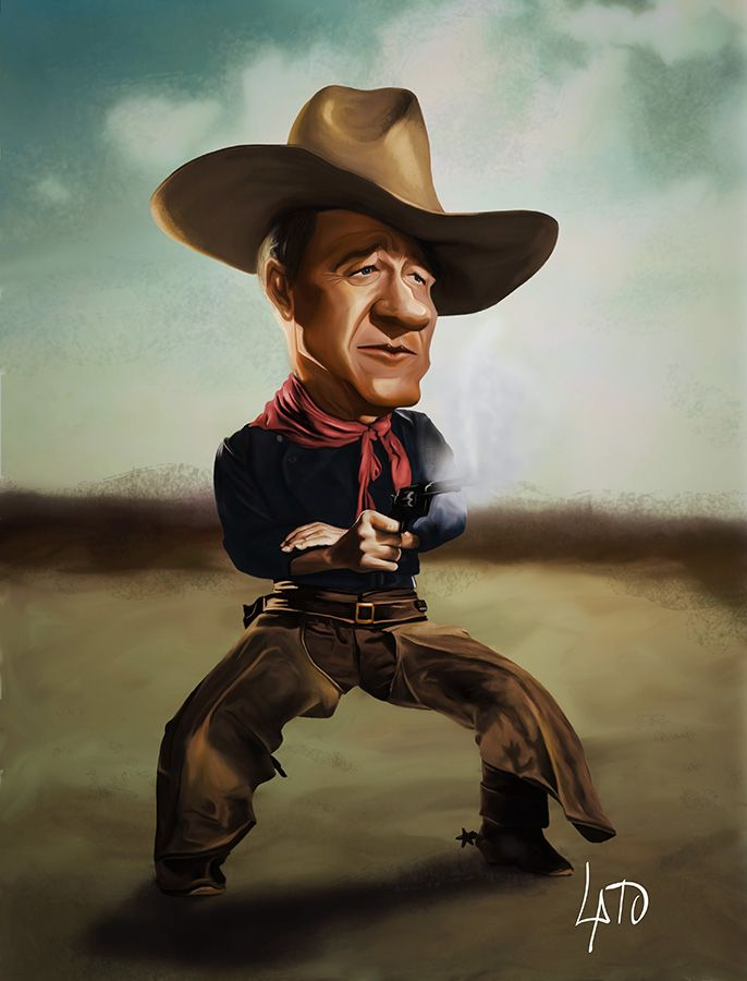 John Wayne (The Duke) Caricature by Emilio Amengual -  Dunway Enterprises - http://www.amazon.com/gp/product/1608871169/ref=as_li_tl?ie=UTF8&camp=1789&creative=390957&creativeASIN=1608871169&linkCode=as2&tag=freedietsecre-20&linkId=IUZSYU2HONZ62E24