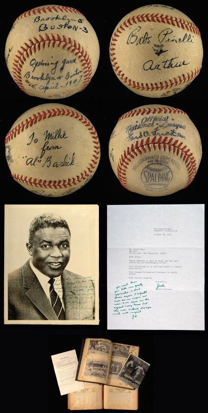 Jackie Robinson first ball to see $30,000 at Hunt Auctions