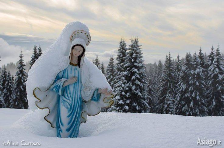 O Maria, Madonna della Neve, concedici oggi nel giorno della tua festa la grazia che umilmente e insistentemente chiediamo.....(chiedere la grazia)....