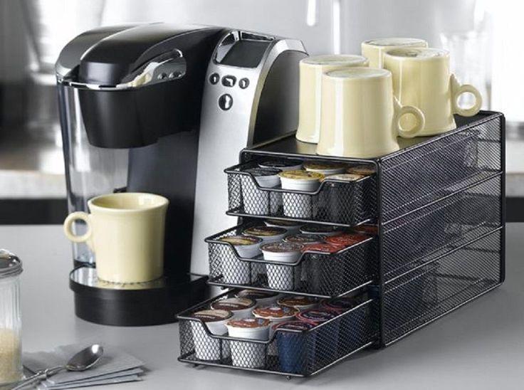 Coffee Pod Storage K Cup Single Serve 54 Pods Kitchen Storage Organizer Brew Tea #Nifty