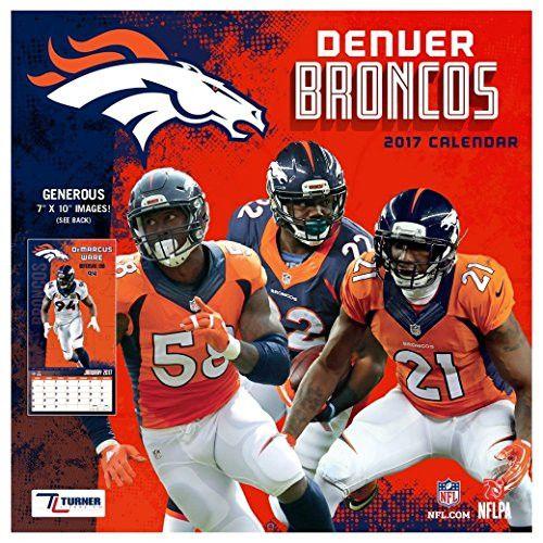 Denver Broncos Mini Wall Calendar (2017)
