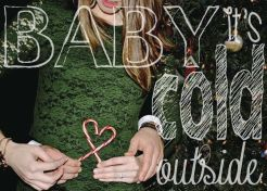 Oh Baby! Christmas Card Pregnancy Announcement | Champagne Revelry