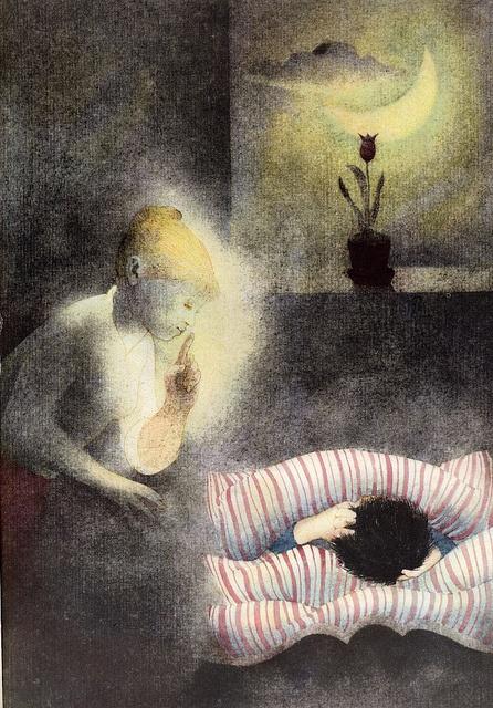 František Halas: To The Children    lllustrated by Ota Janeček. Prague 1961.