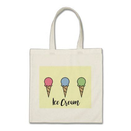 #Ice Cream Tote Bag - cyo customize design idea do it yourself