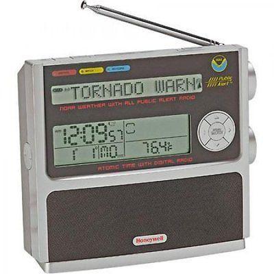 Honeywell RN507W Weathertime NOAA FM Radio with Atomic Clock Black NEW 843616002743 | eBay
