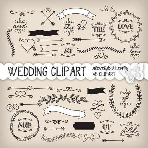 25+ beste ideeën over clipart hochzeit op pinterest - bruiloft, Einladungen
