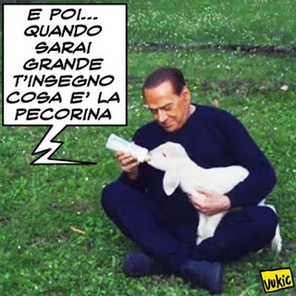 La Pecorina Berlusconiana... #Berlusconi #agnellini #Pasqua