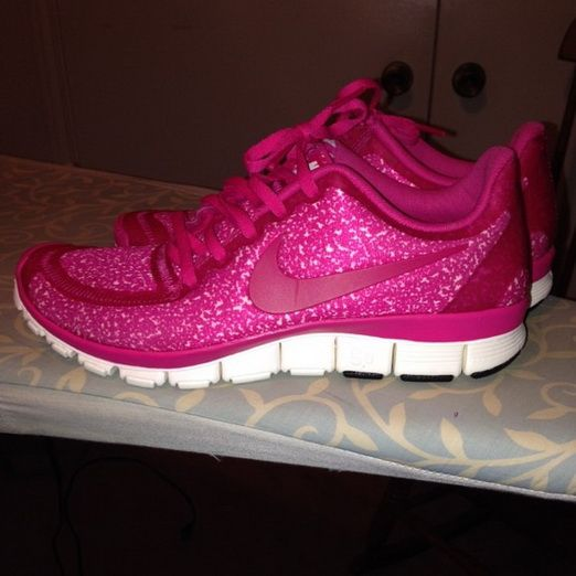 pink glitter nike shoes