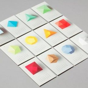Calendar 2012 by Lo Siento, number of sides on the shape corresponds to the month