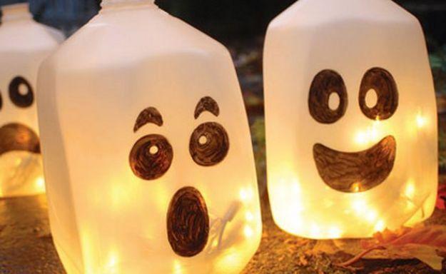 Idee fai da te per Halloween: contenitori che diventano fantasmi