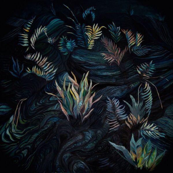 """""""Aske og sporer"""" painting by Katharina Zahl"""
