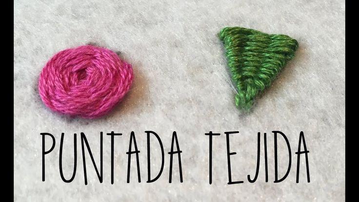 PUNTADA TEJIDA- TUTORIAL-PASO A PASO