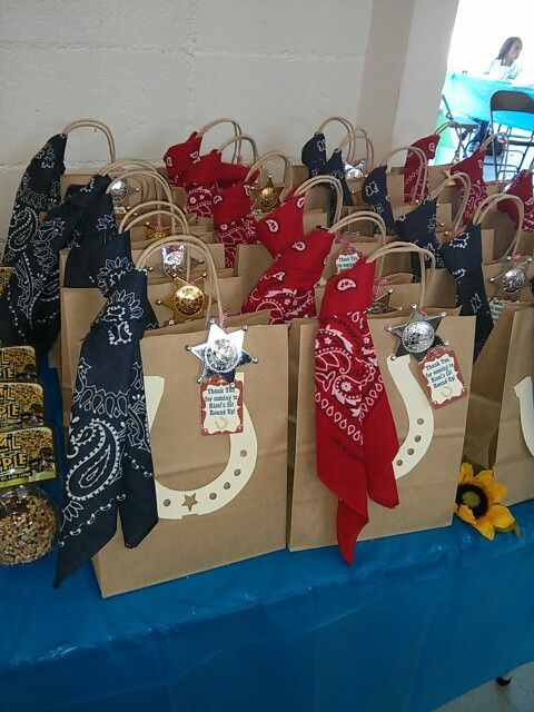 Goody Bags for a Western party                                                                                                                                                      More