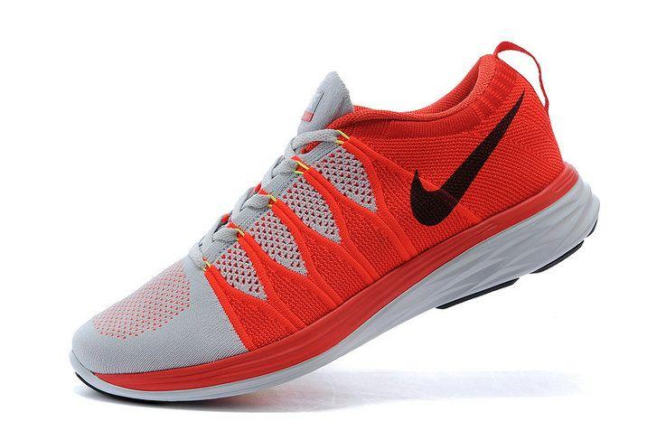 separation shoes 2c82b e7bbe Authentic New Arrival 2018-2019 Men Nike Flyknit Lunar2 Lunar 2 Hyper  Crimson Wolf Grey Pure Platinum Black 620465 006