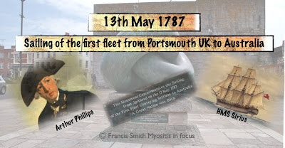 The First Fleet 1787 from Portsmouth UK to Australia .