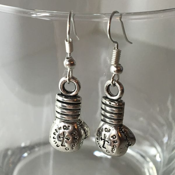 6.99$ 'Burden of Proof' Boxing Glove Earrings | Motivational Fitness Jewelry - Miss Fit Boutique