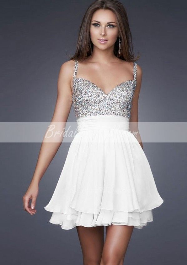 Cute White Short Cocktail Dresses