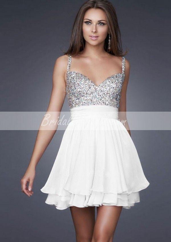 Cute White Short Cocktail Dresses