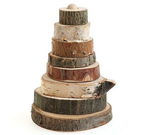 Eco-Friendly developmental toy Pyramid Wild Nature is made of wood with rough edges, rounded for safety. Pyramid develops logic, elementary
