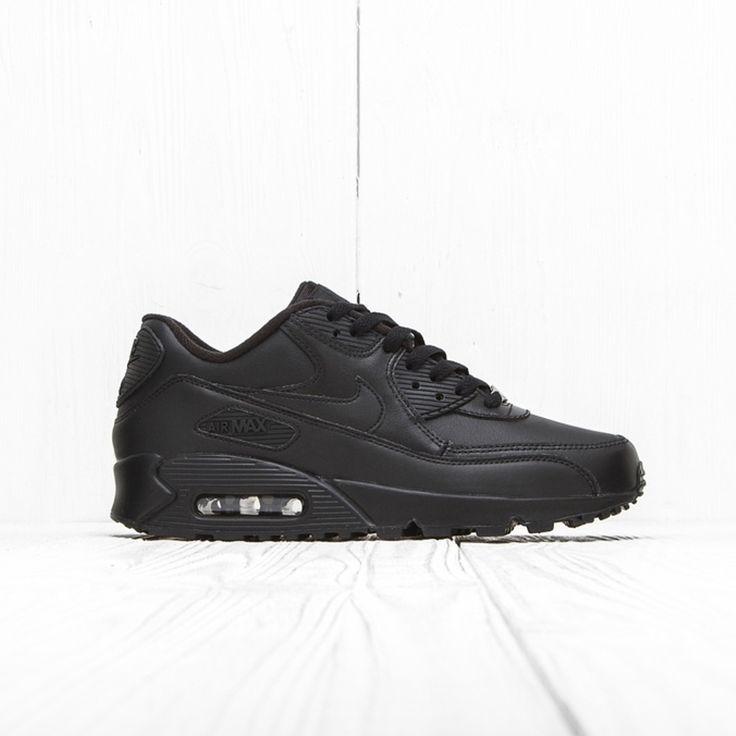 Nike Air Max zapatillas Tavas 705149 010 en los hombres negros, Size:40