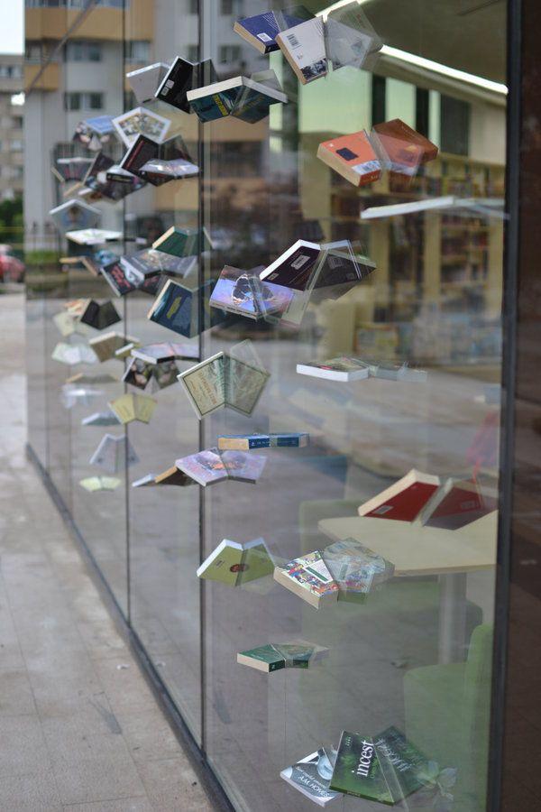 Book Shop Design | Retail Design | Book Display | Romanian book store front