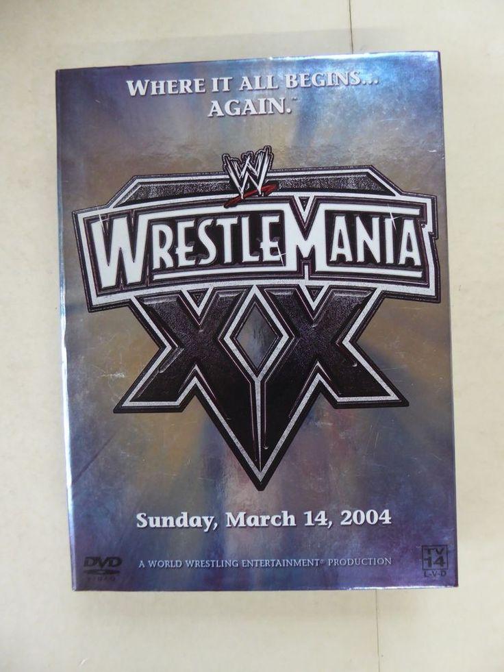 WWE - Wrestlemania XX  Where It Begins...Again - March 14 2004 Triple DVD 2008