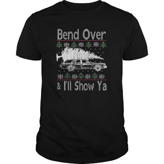 Awesome Tee Bend Over And Ill Show Ya Vintage Ugly Christmas T-Shirts