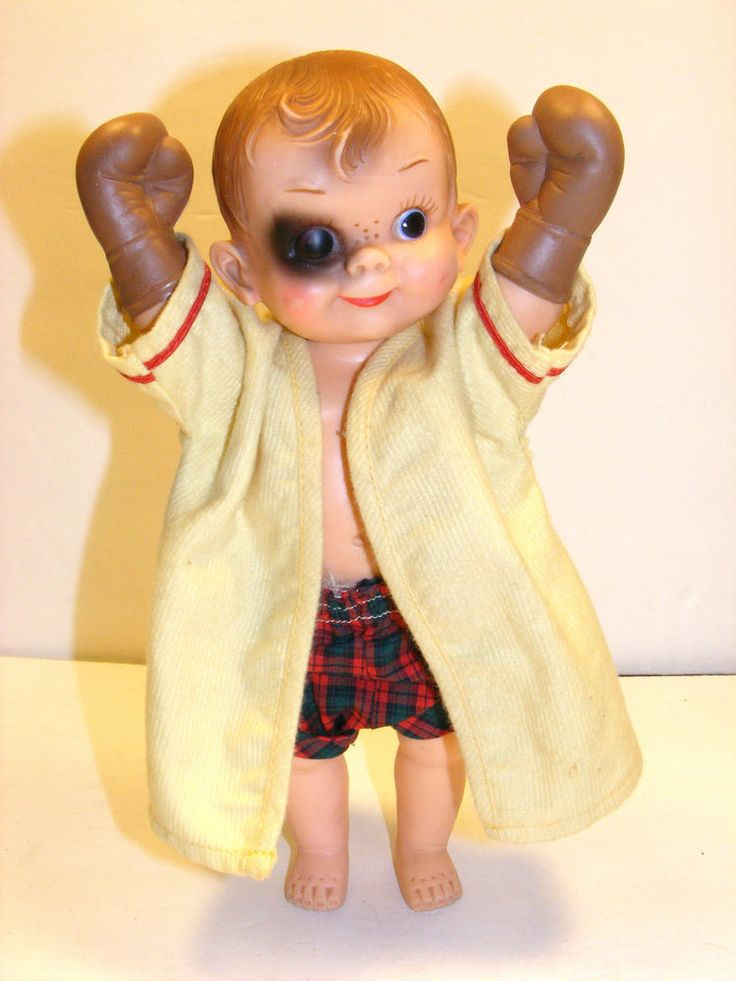 vtg mickey boxer doll by effanbee  black eye  50 u0026 39 s  boxing  collectable  fluffy  dolls