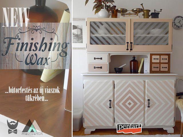 Pentart dekor: Bútorfestés a befejező viaszok tükrében