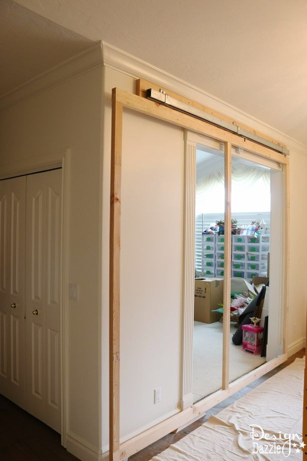 how to build a sliding wall in your home, home decor, how to DIY