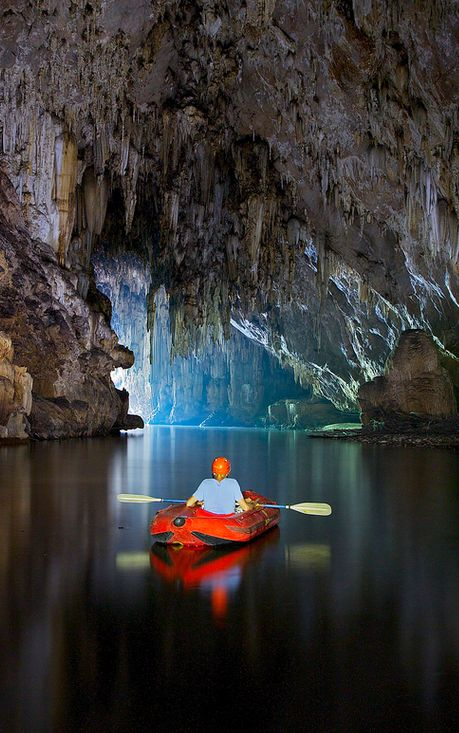 Underground river kayaking #kayak #kayaker #kayaking