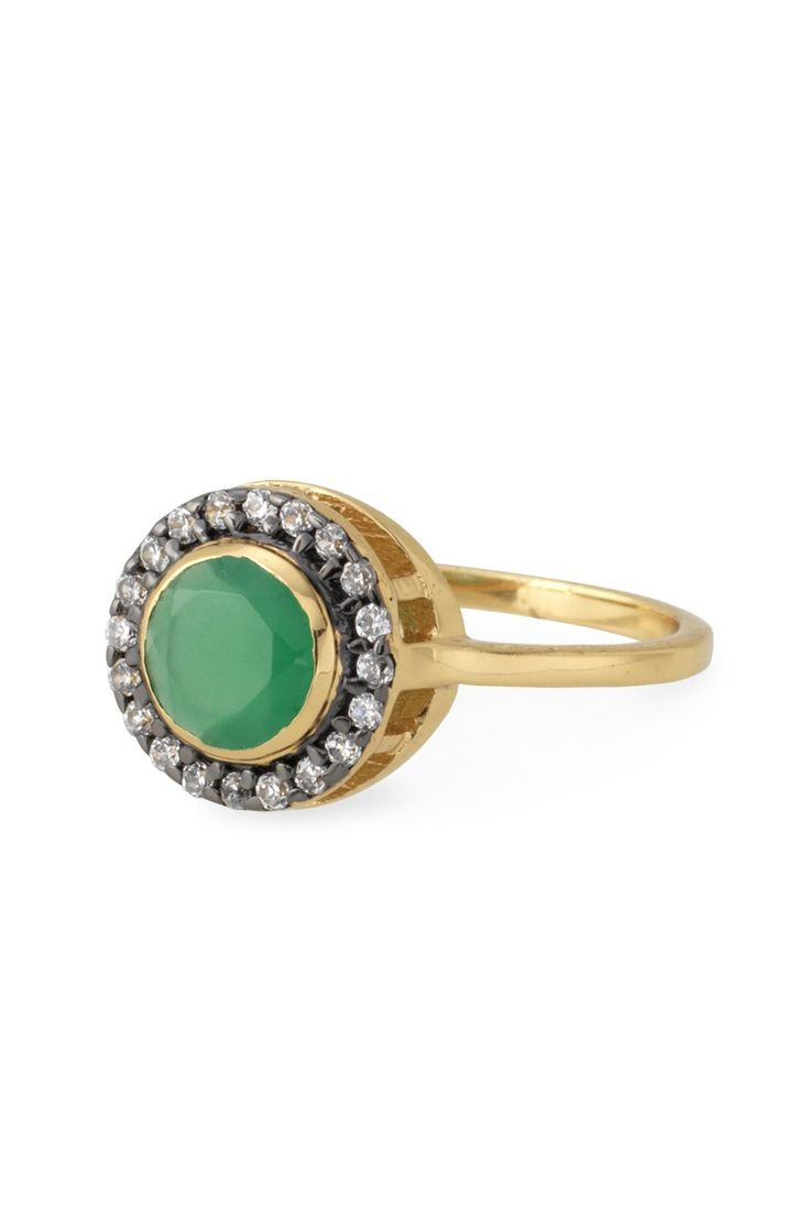 Stella & Dot Emerald Green Suzanne Cocktail Ring