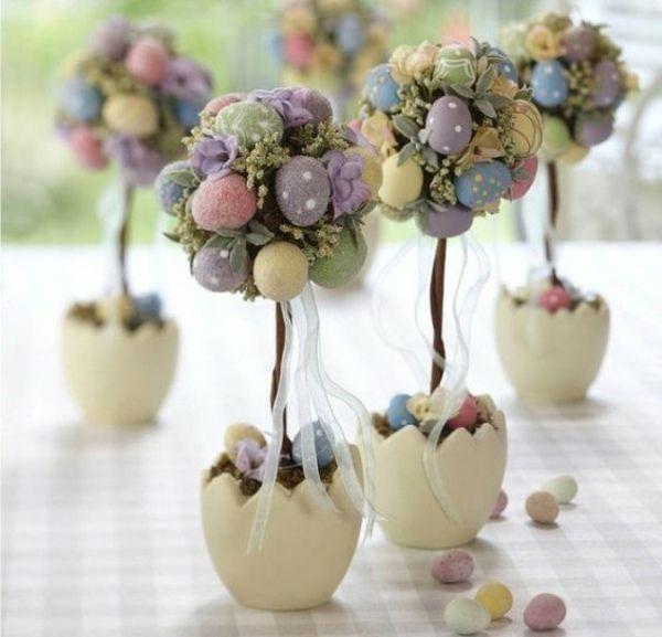 décoration de Pâques et tons pastel