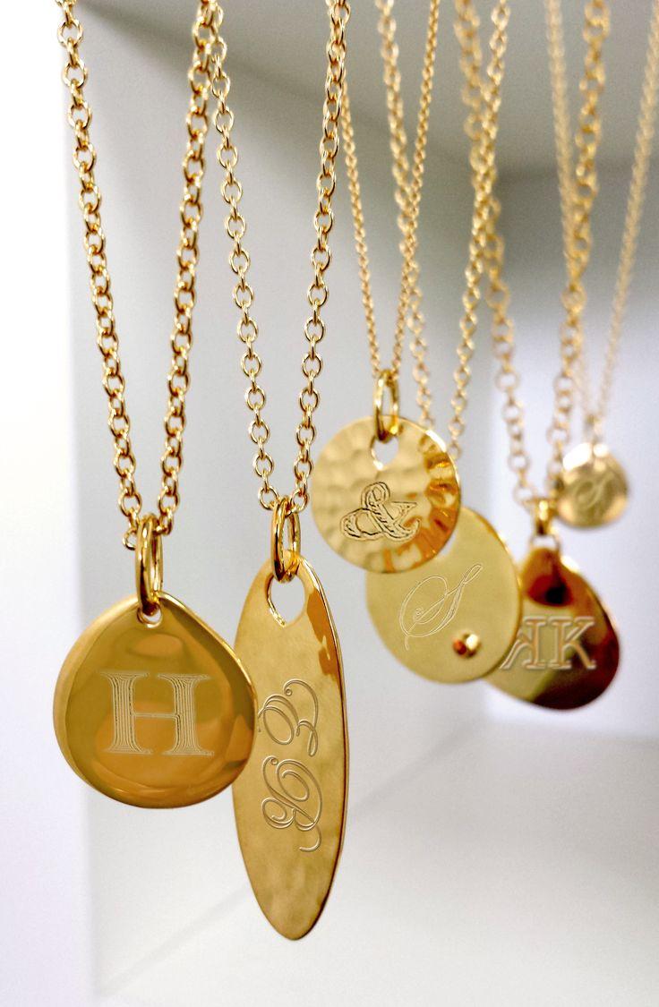 Keep it close and personal with a Monica Vinader pendant and an engraved message
