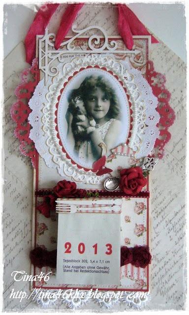 Kalender in Rot